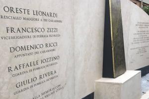 Palestrina Marmi ricorda la scorta di Aldo Moro
